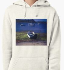 Boats on a lake Pullover Hoodie