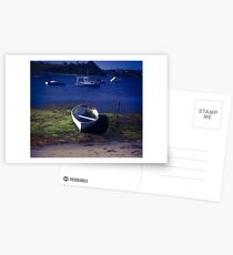 Boats on a lake Postcards