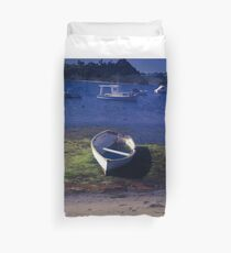 Boats on a lake Duvet Cover