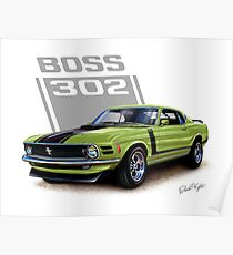 Muscle Car Posters Redbubble