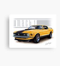 Mustang Mach 1 1970 in Grabber Orange Canvas Print