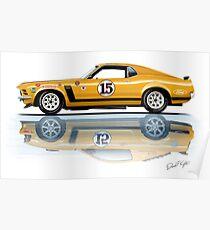 Trans Am Mustang 1970 Poster