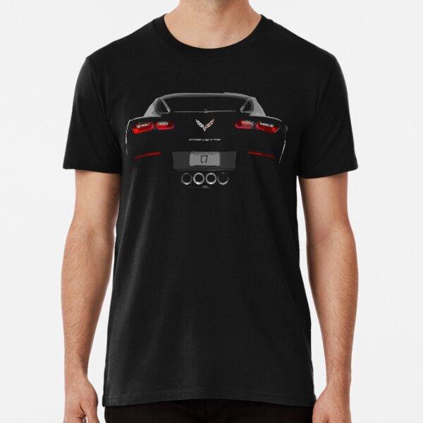 Corvette C7 Rear View  Premium T-Shirt