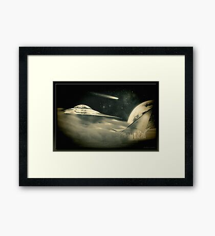 The Inter-Galactic Service Station Framed Print
