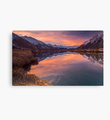 Ahuriri Valley sunset Canvas Print