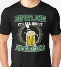 Drinking Beer & Scoring Bowling T-Shirt T-Shirt