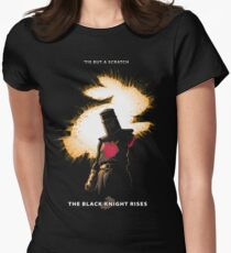 The Black Knight Rises (Text Version) Women's Fitted T-Shirt