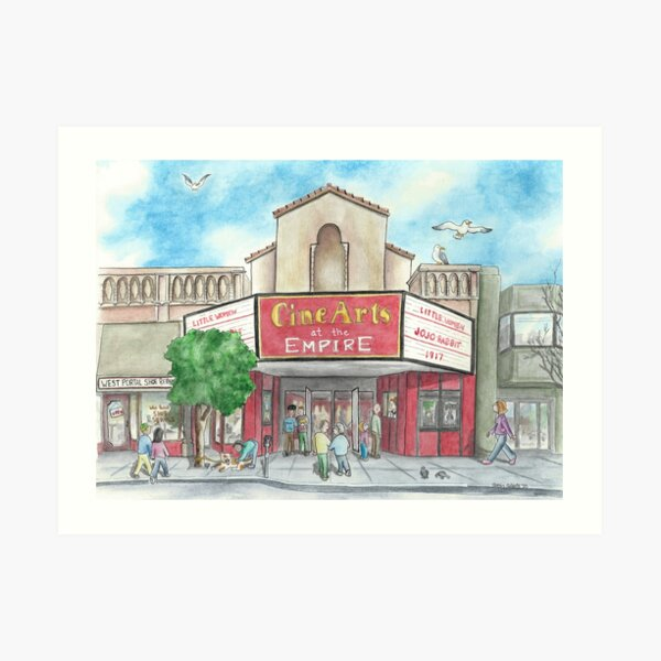 """""""The Empire Theater"""" by Robin Galante Art Print"""