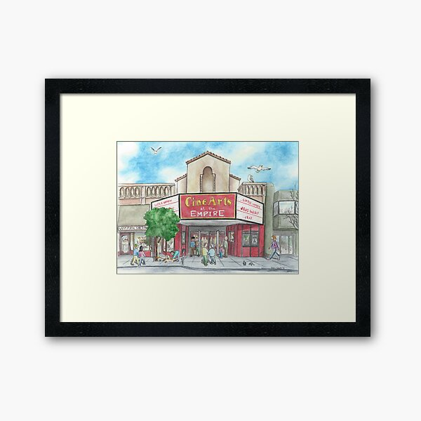 """The Empire Theater"" by Robin Galante Framed Art Print"