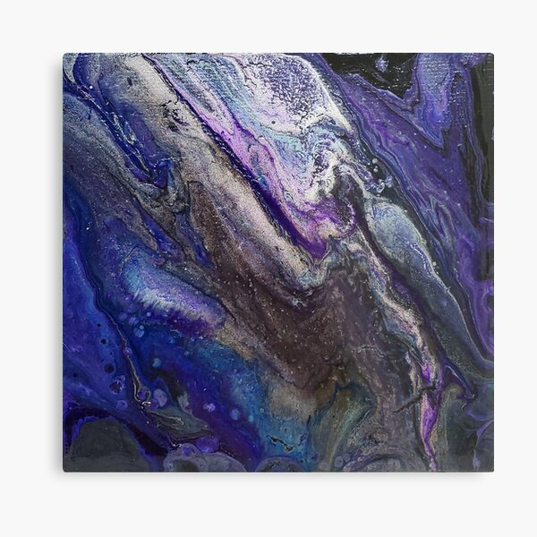 Mini Galaxy Pour (Space) Metal Print