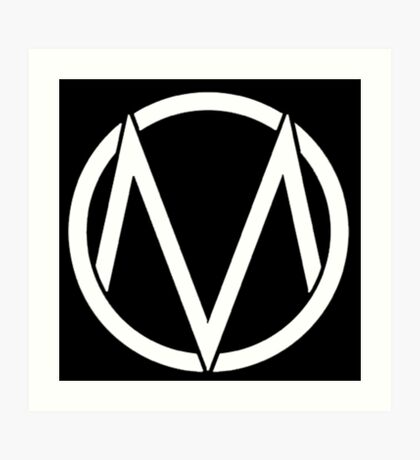 The Maine - Band  Logo White Art Print
