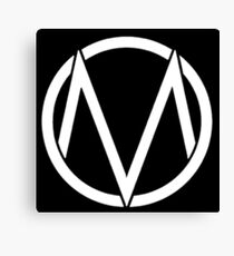 The Maine - Band  Logo White Canvas Print