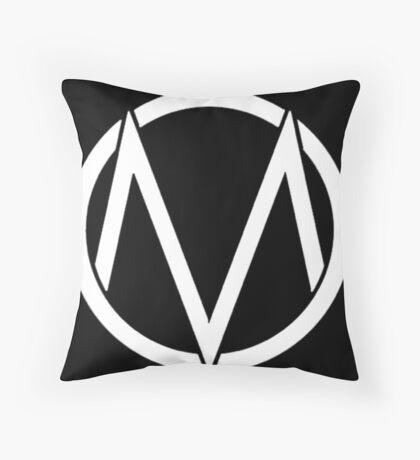The Maine - Band  Logo White Throw Pillow