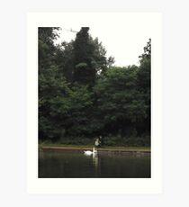 Father/Son/2xSwans -(070812)- Digital photo Art Print