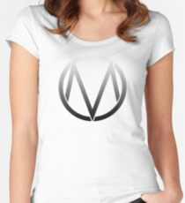 The Maine - Band  Logo Fade Women's Fitted Scoop T-Shirt