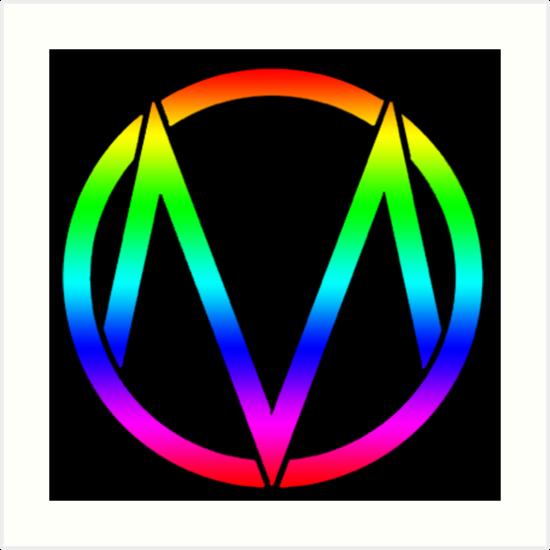 The Maine - Band  Logo Rainbow by Kingofgraphics