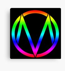 The Maine - Band  Logo Rainbow Canvas Print