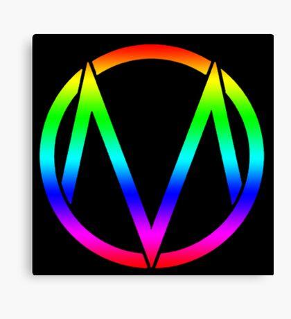 The Maine - Band  Logo Rainbow Canvas Print