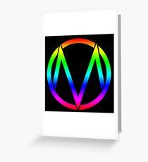 The Maine - Band  Logo Rainbow Greeting Card