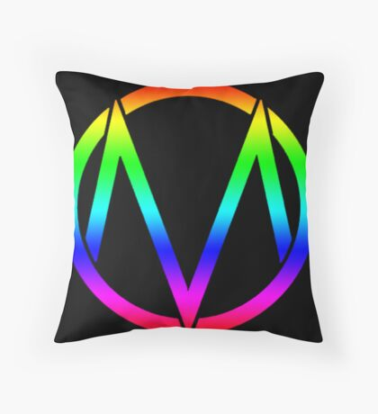 The Maine - Band  Logo Rainbow Throw Pillow