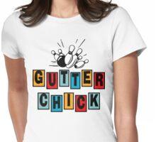 Gutter Chick Bowling T-Shirt Womens Fitted T-Shirt