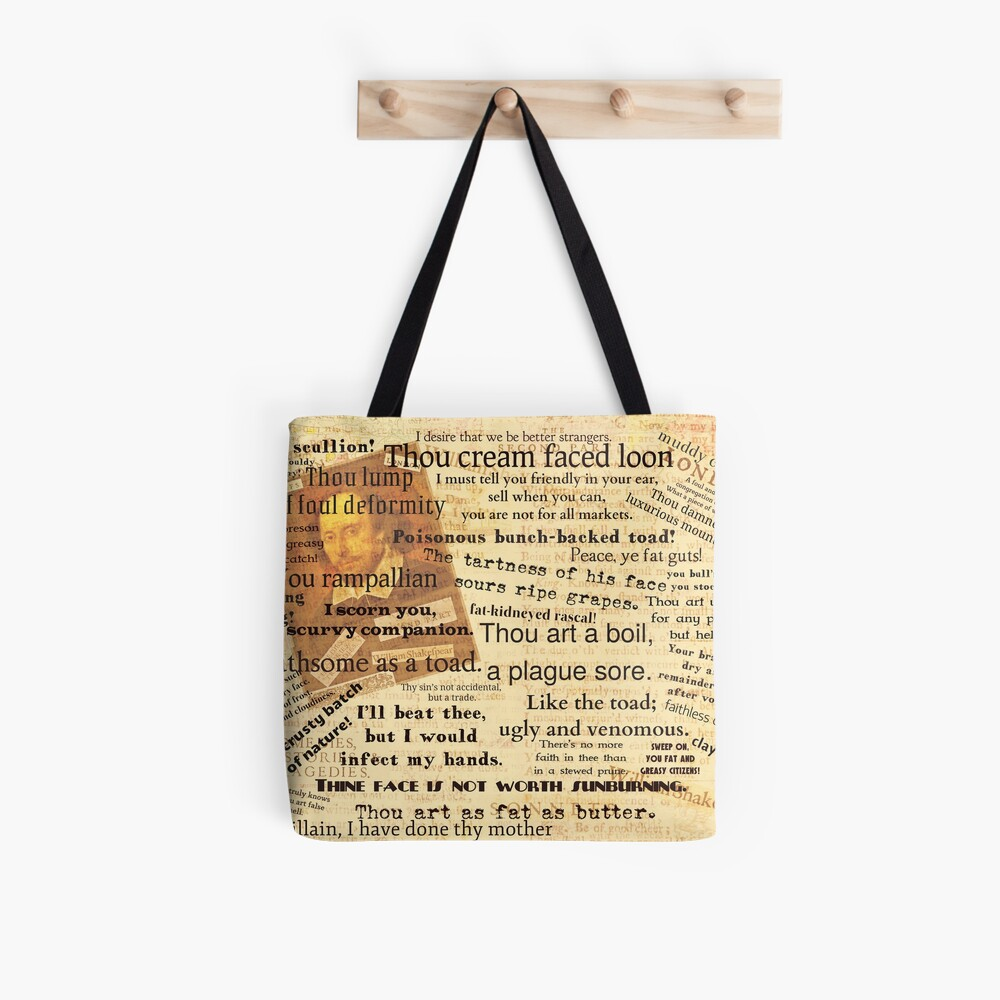 Shakespeare's Best Insults Tote Bag