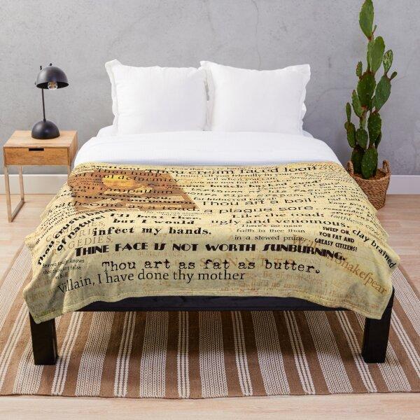 Shakespeare's Best Insults Throw Blanket