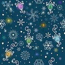 Colorful christmas pattern by artonwear