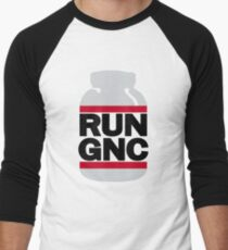 RUN GNC on White Men's Baseball ¾ T-Shirt