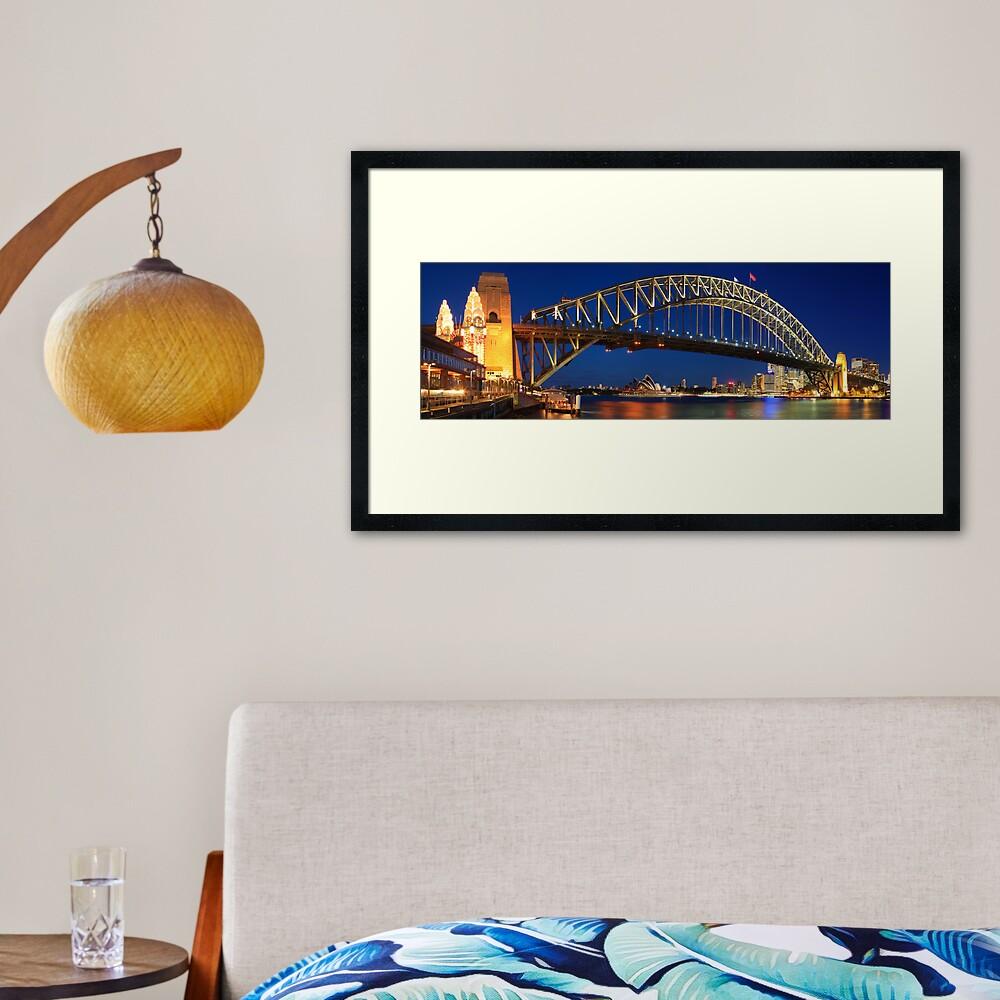 Sydney Harbour Bridge, New South Wales, Australia Framed Art Print