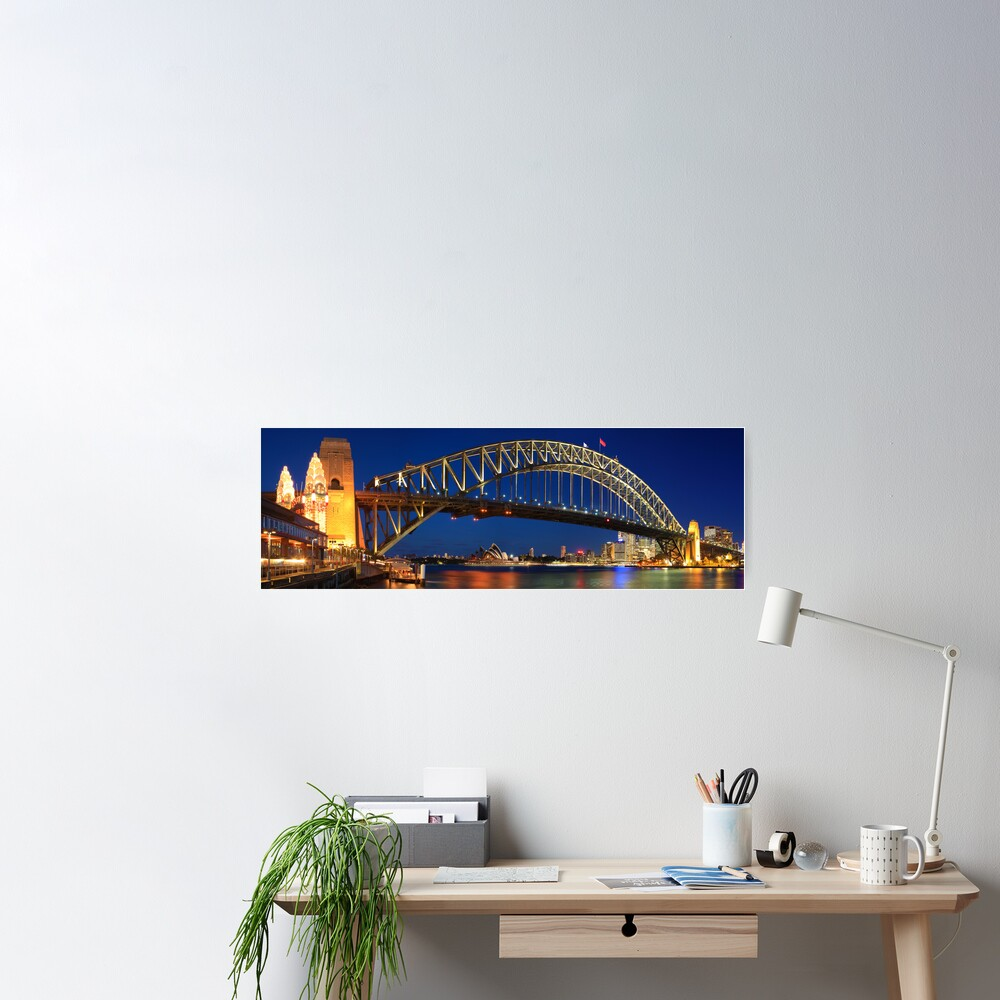 Sydney Harbour Bridge, New South Wales, Australia Poster
