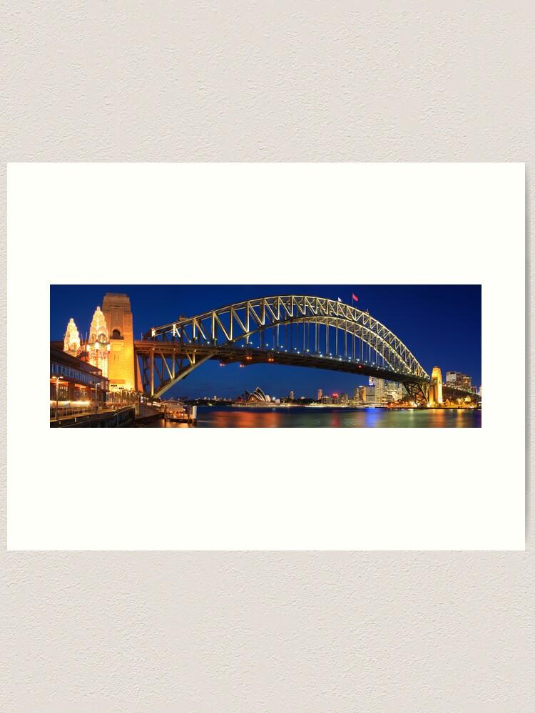 Alternate view of Sydney Harbour Bridge, New South Wales, Australia Art Print