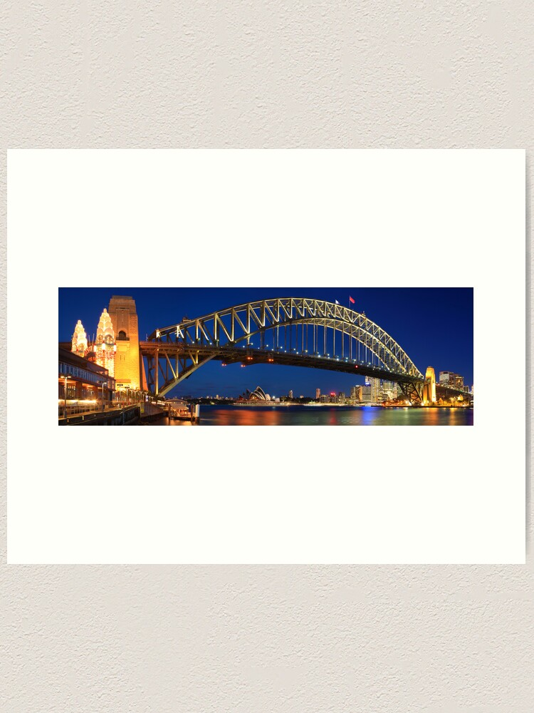 Alternate view of Sydney Harbour Bridge, New South Wales, Australia Art Print