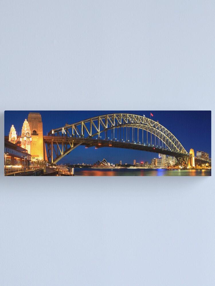 Alternate view of Sydney Harbour Bridge, New South Wales, Australia Canvas Print