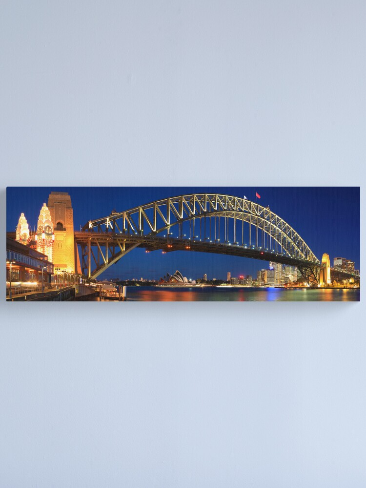 Alternate view of Sydney Harbour Bridge, New South Wales, Australia Canvas Print