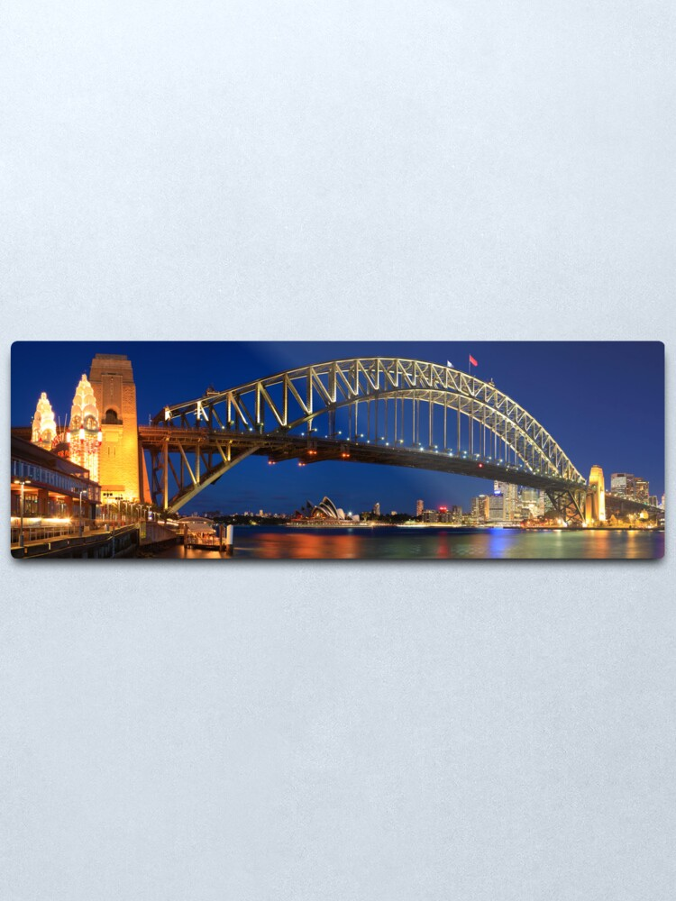 Alternate view of Sydney Harbour Bridge, New South Wales, Australia Metal Print