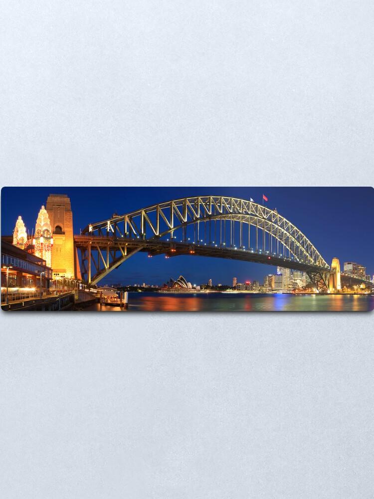 Alternate view of Sydney Harbour Bridge, New South Wales, Australia Metal Print