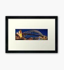 Sydney Harbour Bridge, New South Wales, Australia Framed Print