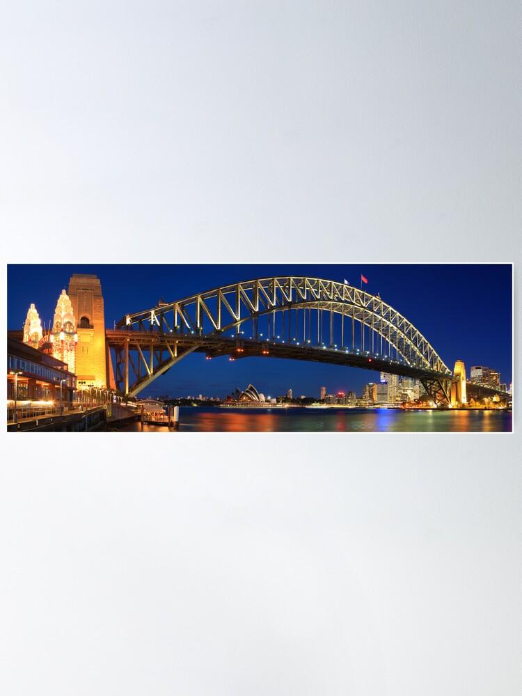 Alternate view of Sydney Harbour Bridge, New South Wales, Australia Poster