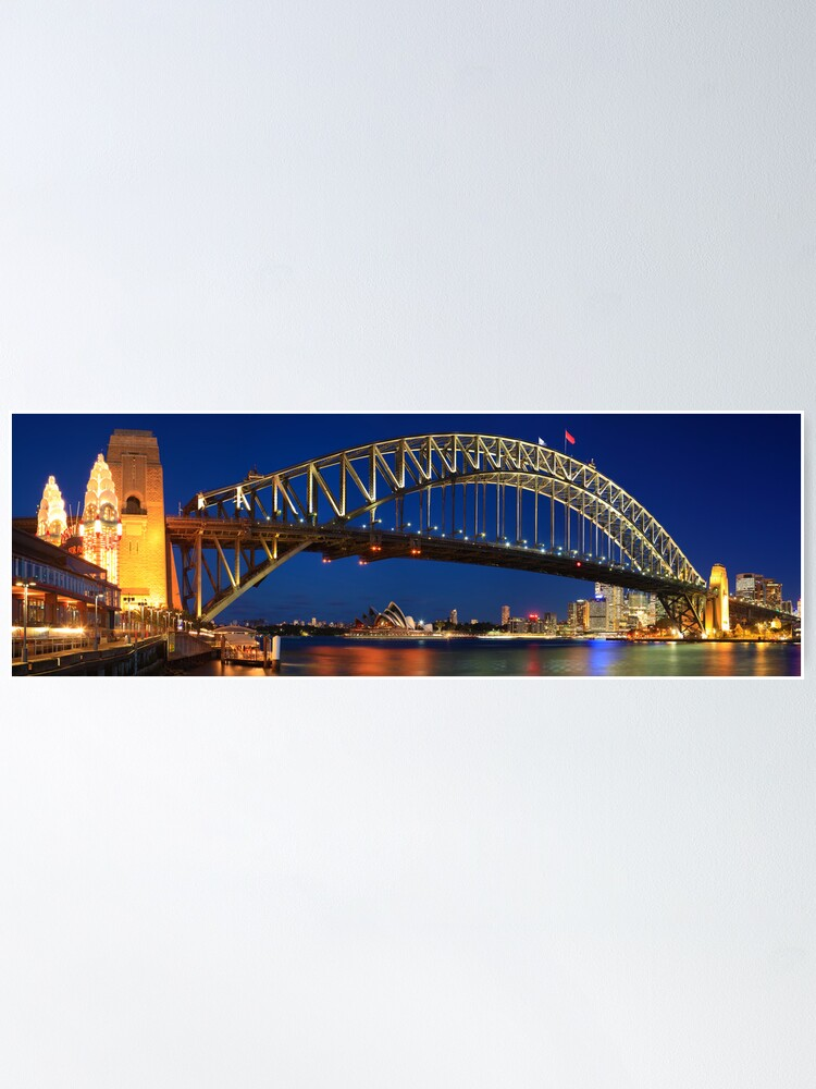 Alternate view of Sydney Harbour Bridge, New South Wales, Australia Poster