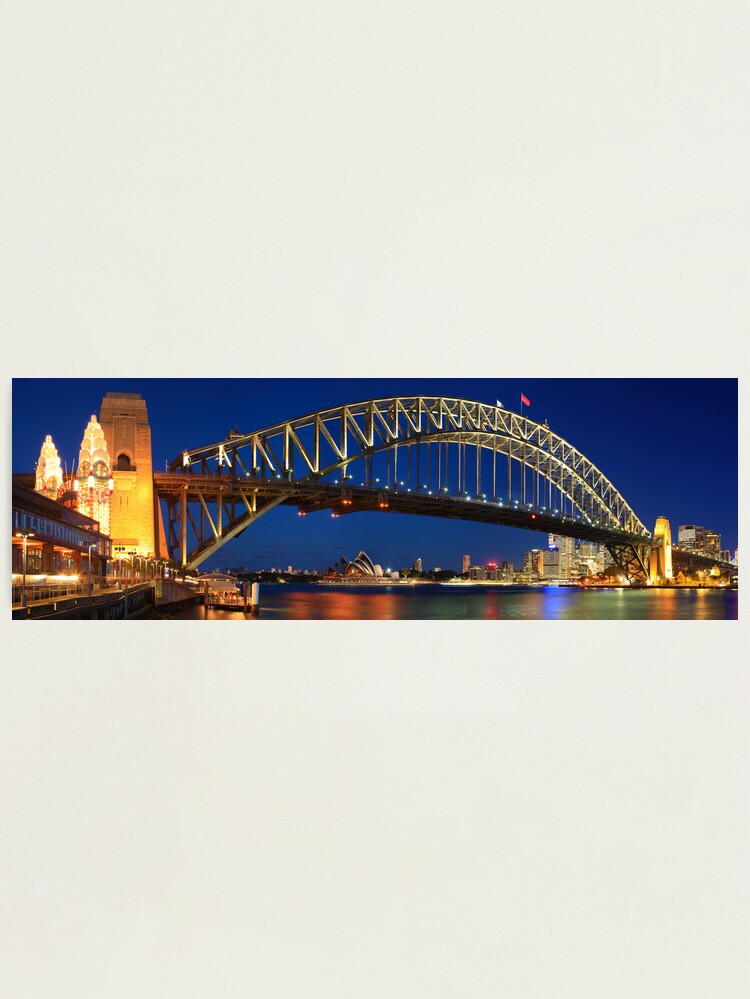 Alternate view of Sydney Harbour Bridge, New South Wales, Australia Photographic Print