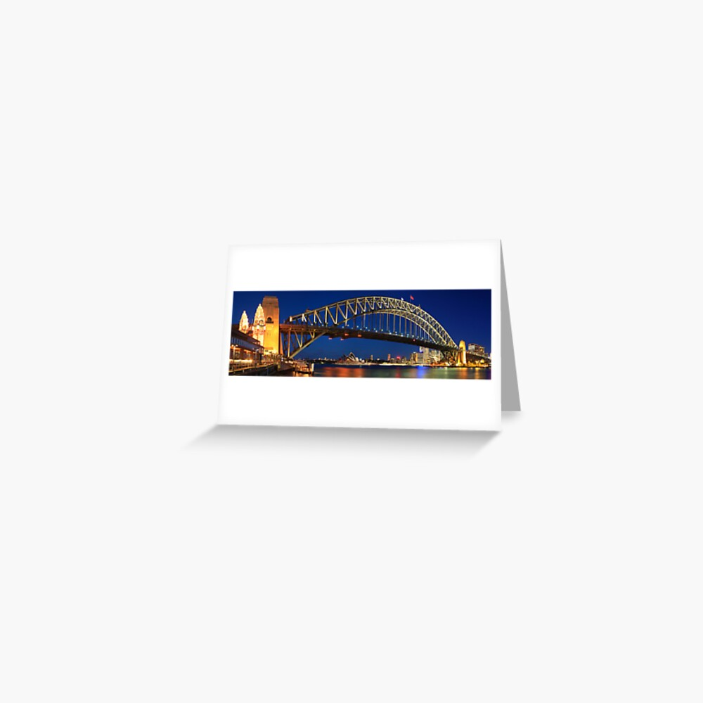 Sydney Harbour Bridge, New South Wales, Australia Greeting Card