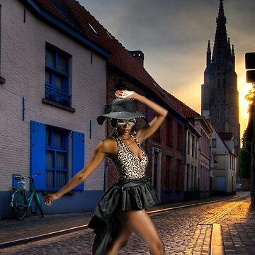 Fashionista Crossing The Street by MegatronLuva