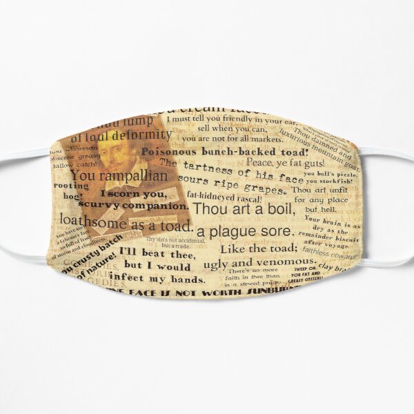 Shakespeare's Best Insults Flat Mask