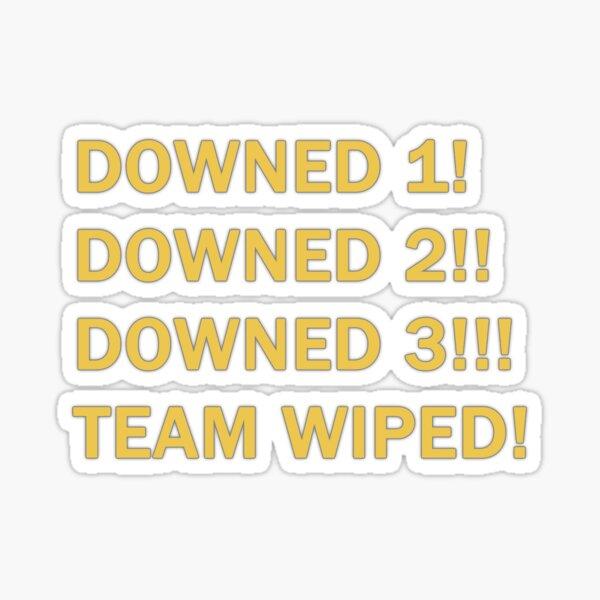 Warzone - ¡El equipo derribado fue eliminado! Pegatina