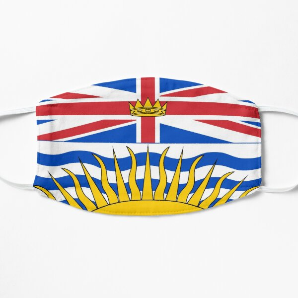 Flag of British Columbia (Canada) Mask