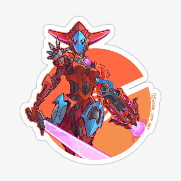 Space Virus Mech Sticker
