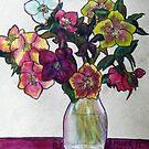 Vase of Hellebores by Alexandra Felgate