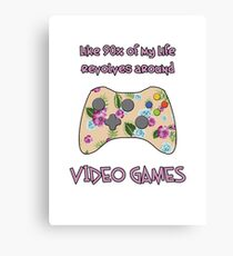 Floral video game controller Canvas Print