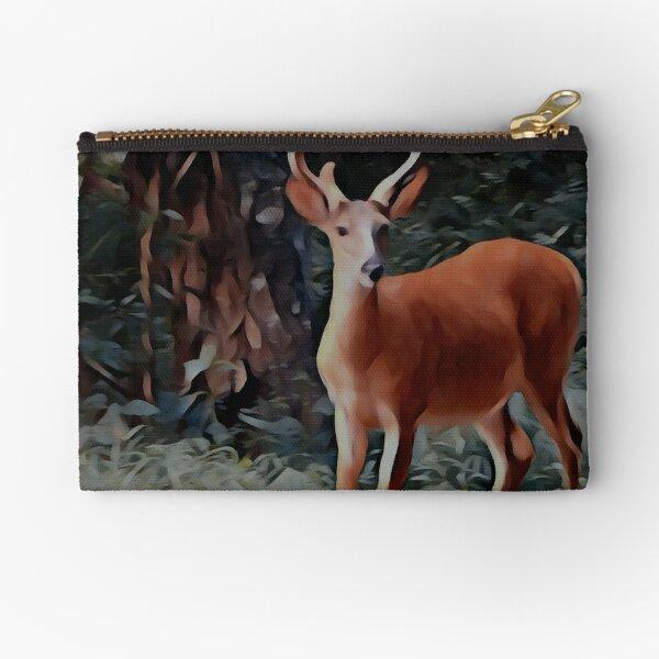 The yearling Buck Deer Zipper Pouch